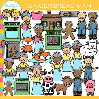 The Gingerbread Man Clip Art.