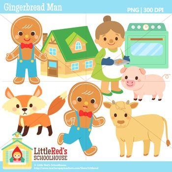 Gingerbread Man Clipart.