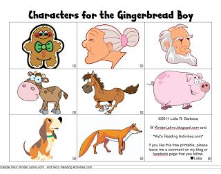 free printable Gingerbread Man characters.