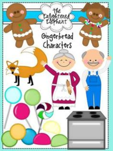 Gingerbread Man Characters Clipart.