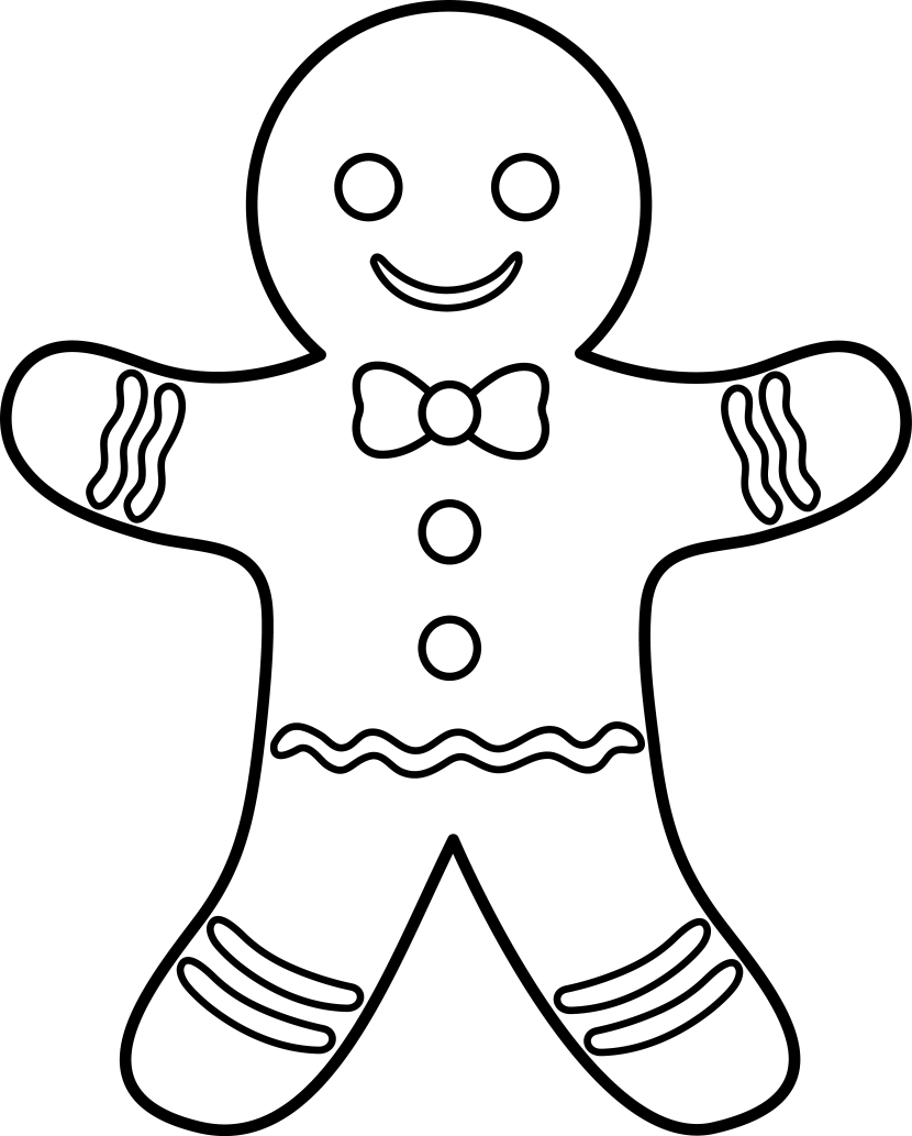 clipart gingerbread man.
