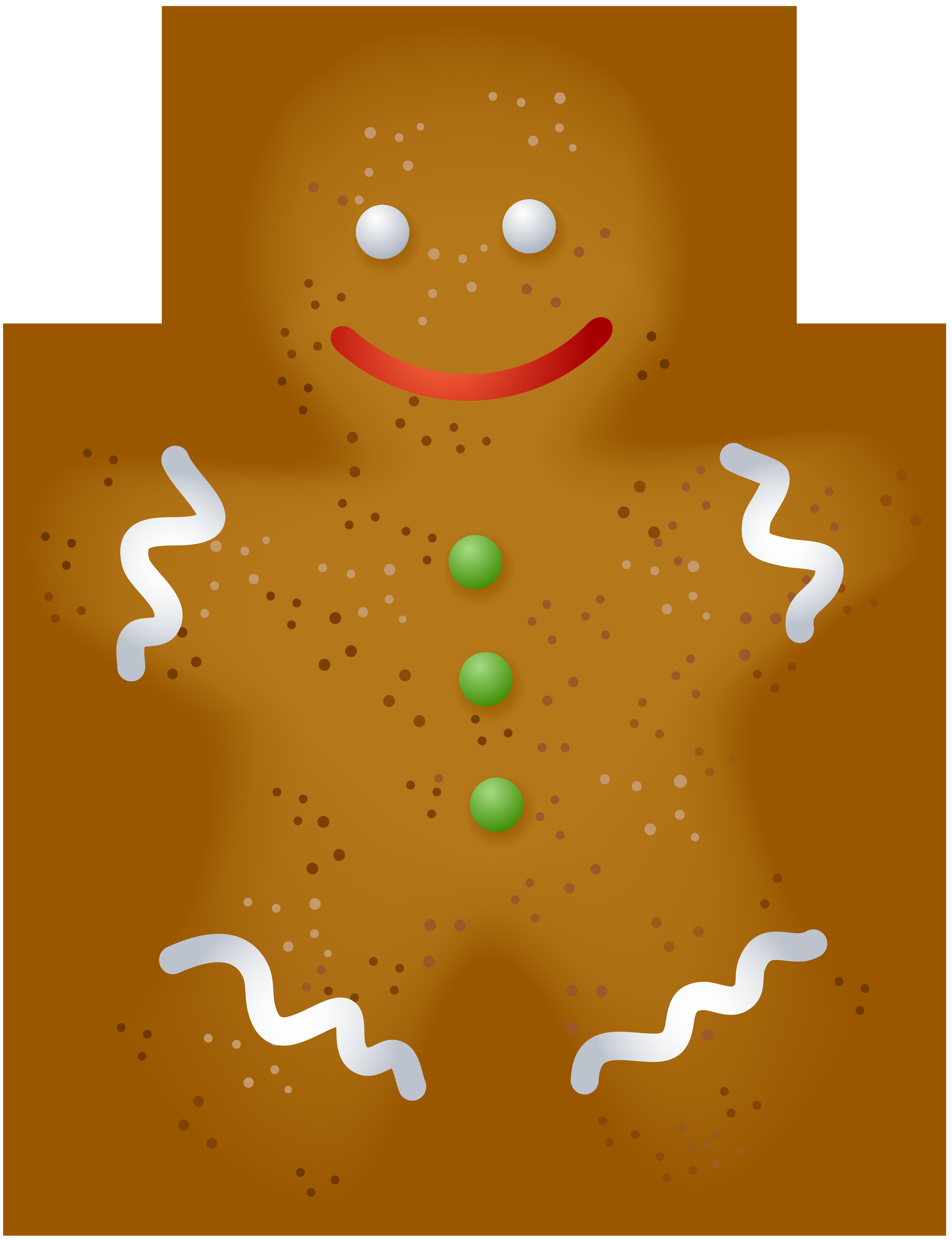 Christmas Gingerbread PNG Clip Art.