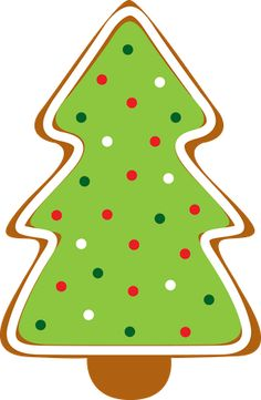 Gingerbread christmas tree clipart.