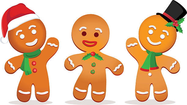 Gingerbread Men Clipart.