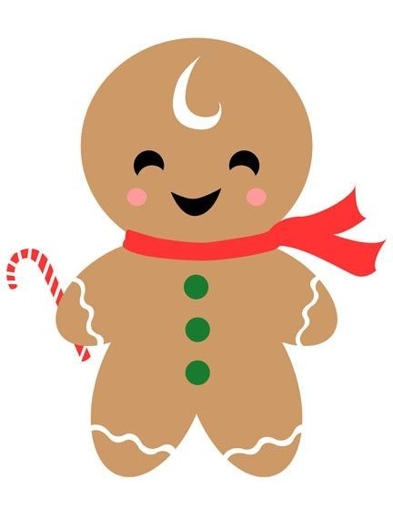 Gingerbread man cookie clip art.
