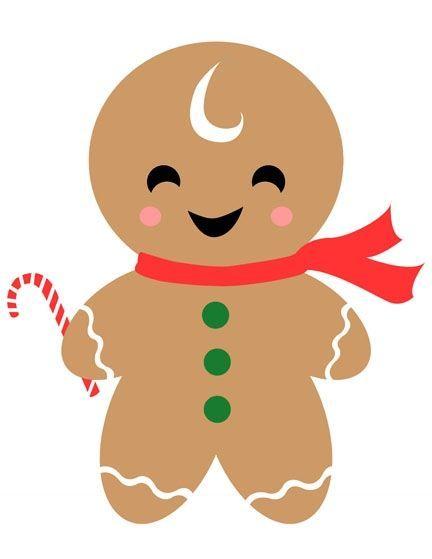Gingerbread man cookie clip art.