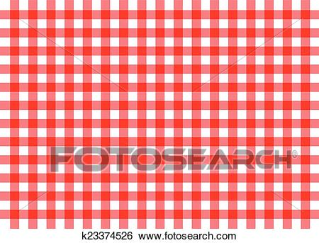Red traditional gingham background Clip Art.