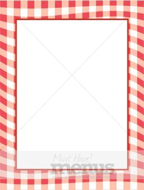 Red Gingham Border.