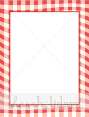 Red Gingham Border Clipart.