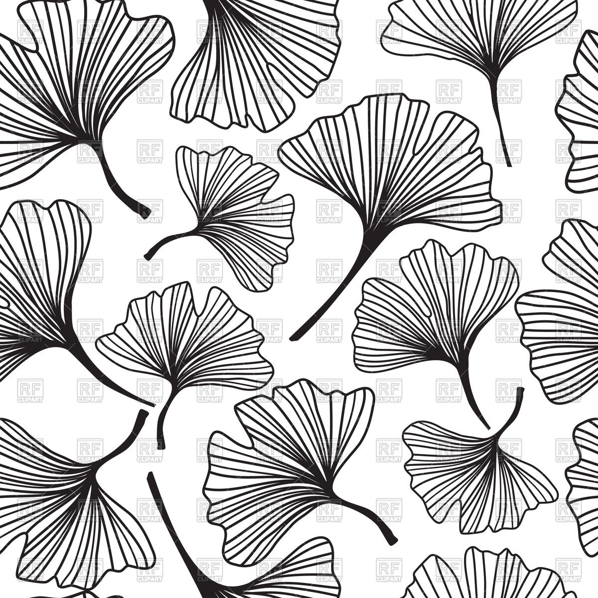 Seamless background with decorative outline of flowers.
