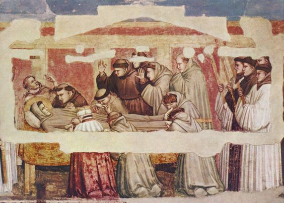 Giotto: 'De dood van Franciscus' ~ na 1317 ~ Fresco ~ S. Croce.