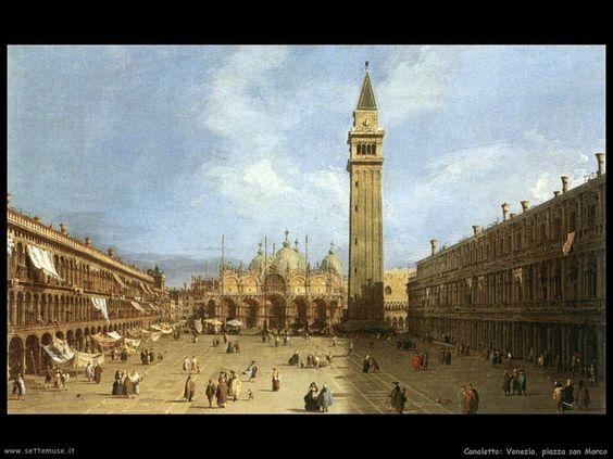 Piazza San Marco Giovanni Antonio Canal detto il Canaletto.