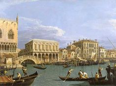 Canaletto, London: Whitehall and the Privy Garden, via Flickr.