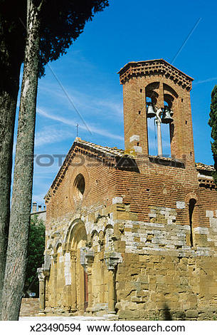 Stock Photo of Italy,Tuscany, San Giovanni d'Asso, Saint Peter in.