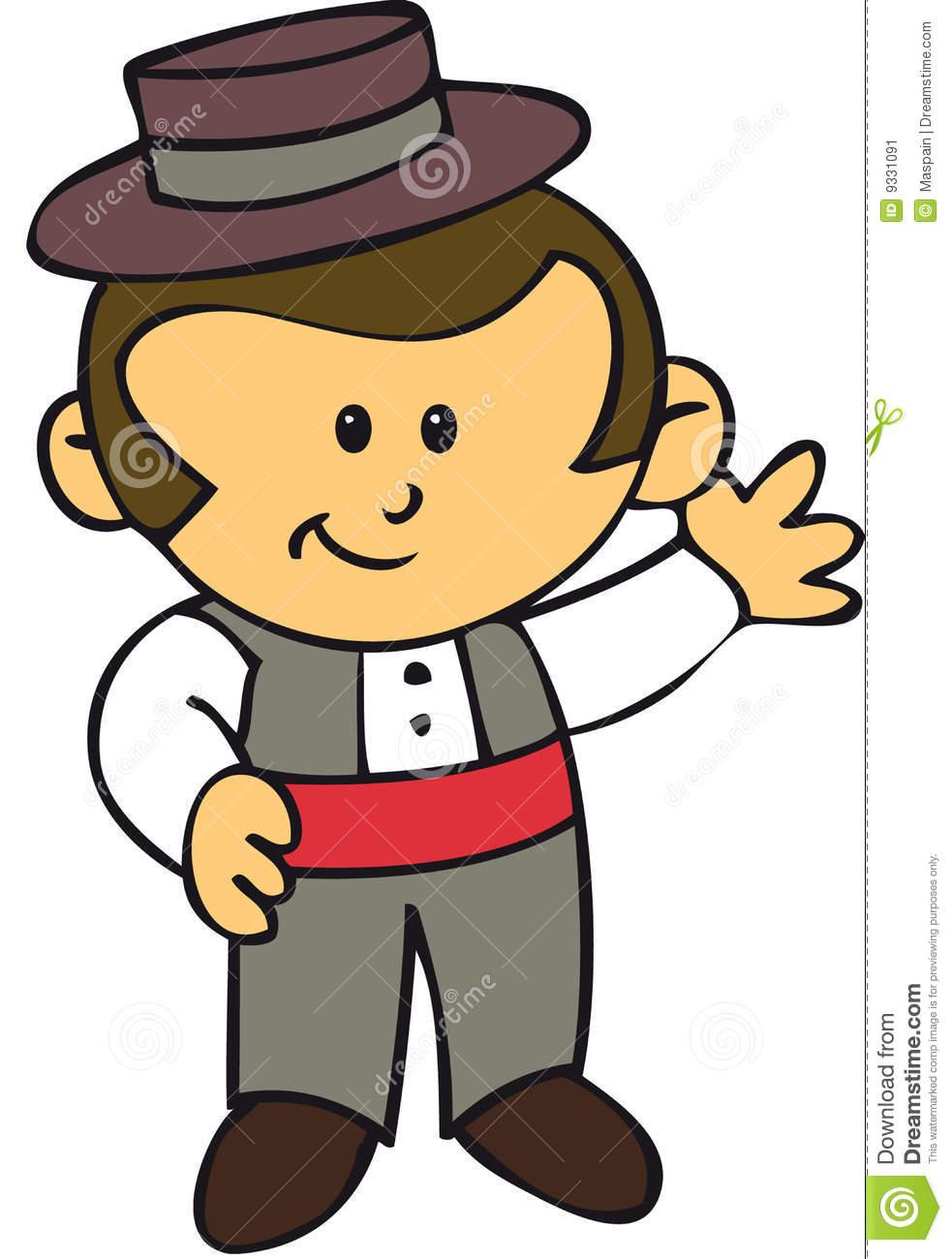 Gipsy Spanish Boy Feria Seville Stock Image.