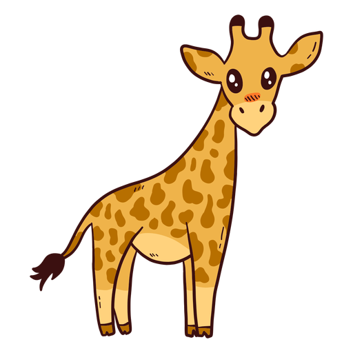 Gira girafa alta pescoço cauda longa ossicones plana.
