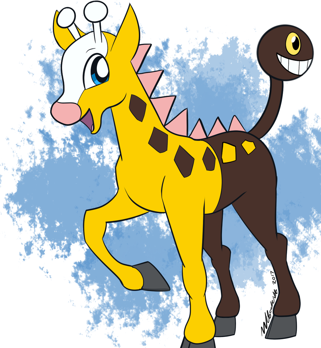 Girafarig [Pokemon] by WubcakeVA on DeviantArt.