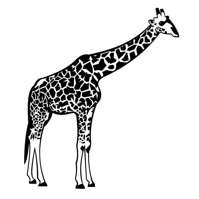 Giraffe Black And White Giraffe Clip Art Picture Black And White.