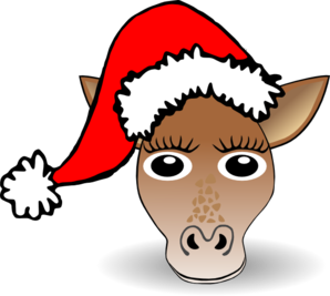 Christmas Giraffe Clip Art at Clker.com.