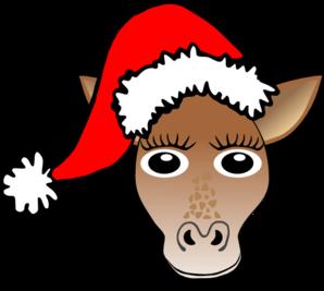 Christmas Giraffe Clip Art at Clker.com.