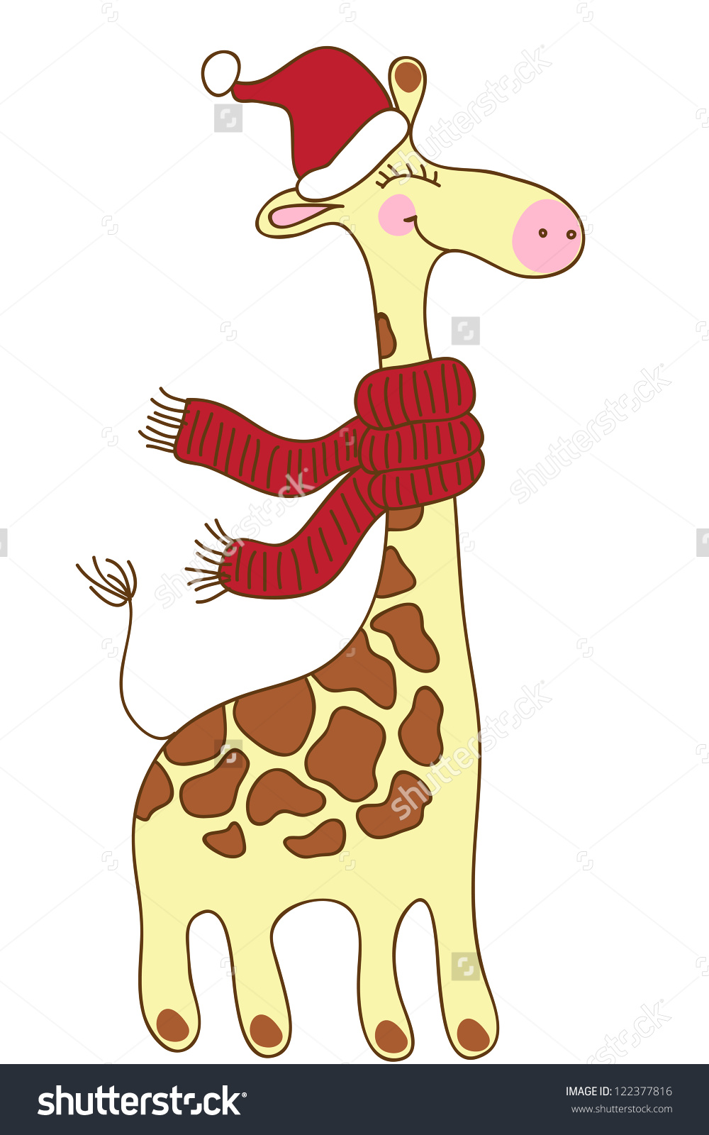 Showing post & media for Cartoon christmas giraffe cute.