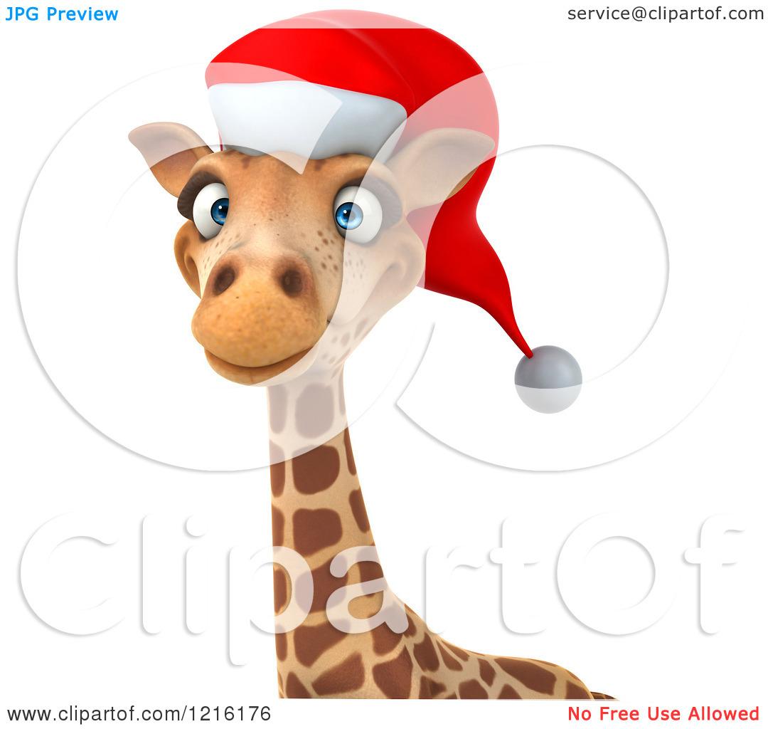 Giraffe Christmas Clip Art.
