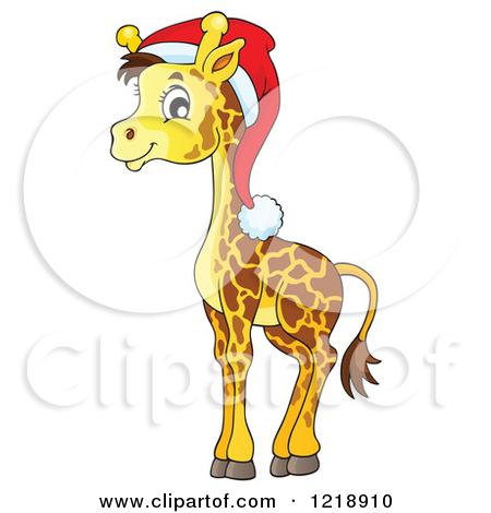 Christmas Giraffe Clipart.