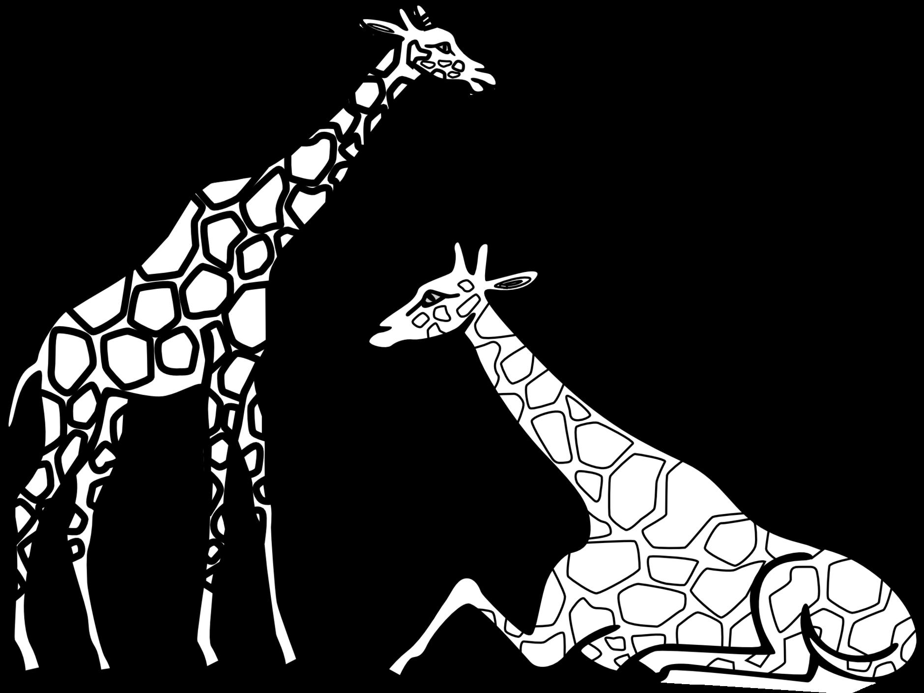 Giraffe Outlines Printable.
