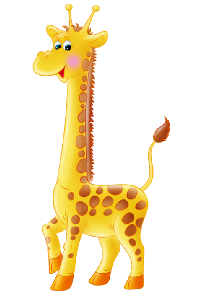Cartoon giraffe clipart.