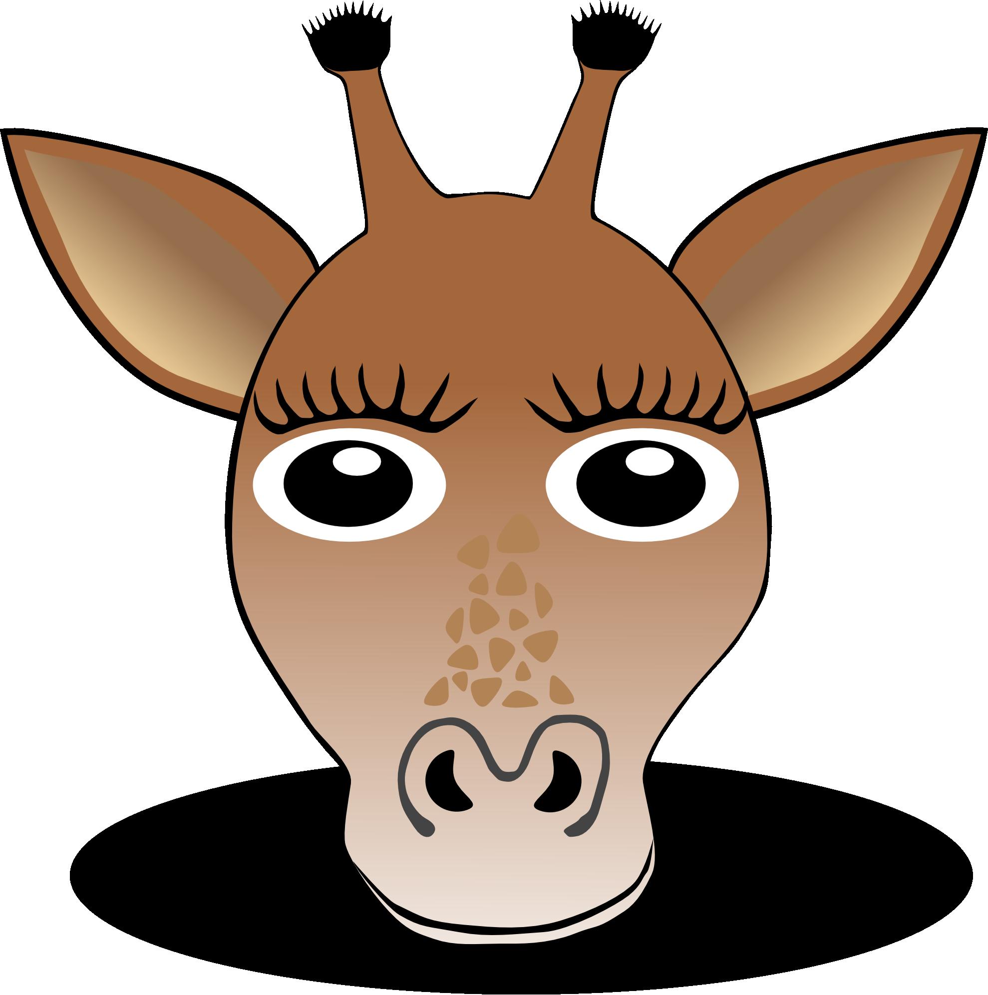 Image of Giraffe Clipart #7664, Clip Art Giraffe 1 Face Christmas.