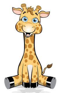 Cartoon Giraffe Stock Images.