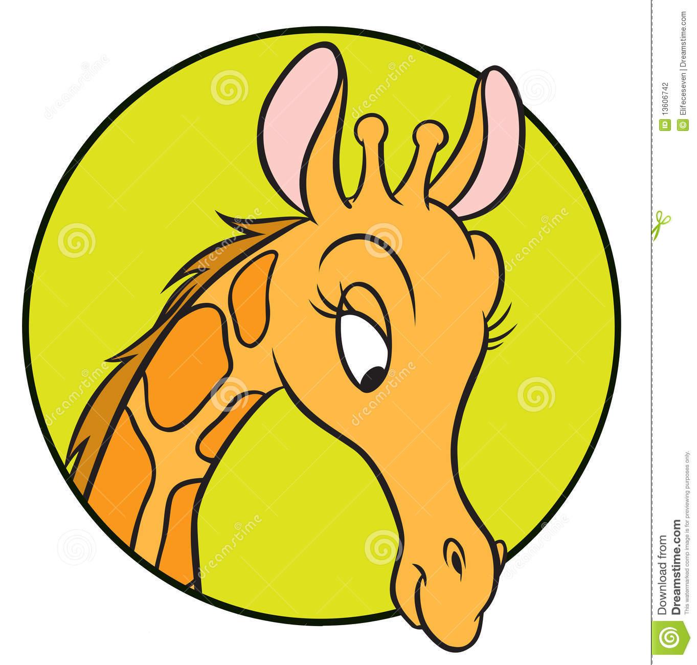 Giraffe Head Clip Art.