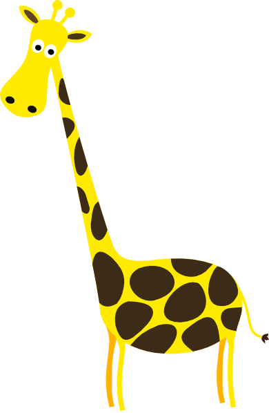 Cartoon Giraffe Clip Art at Clker.com.