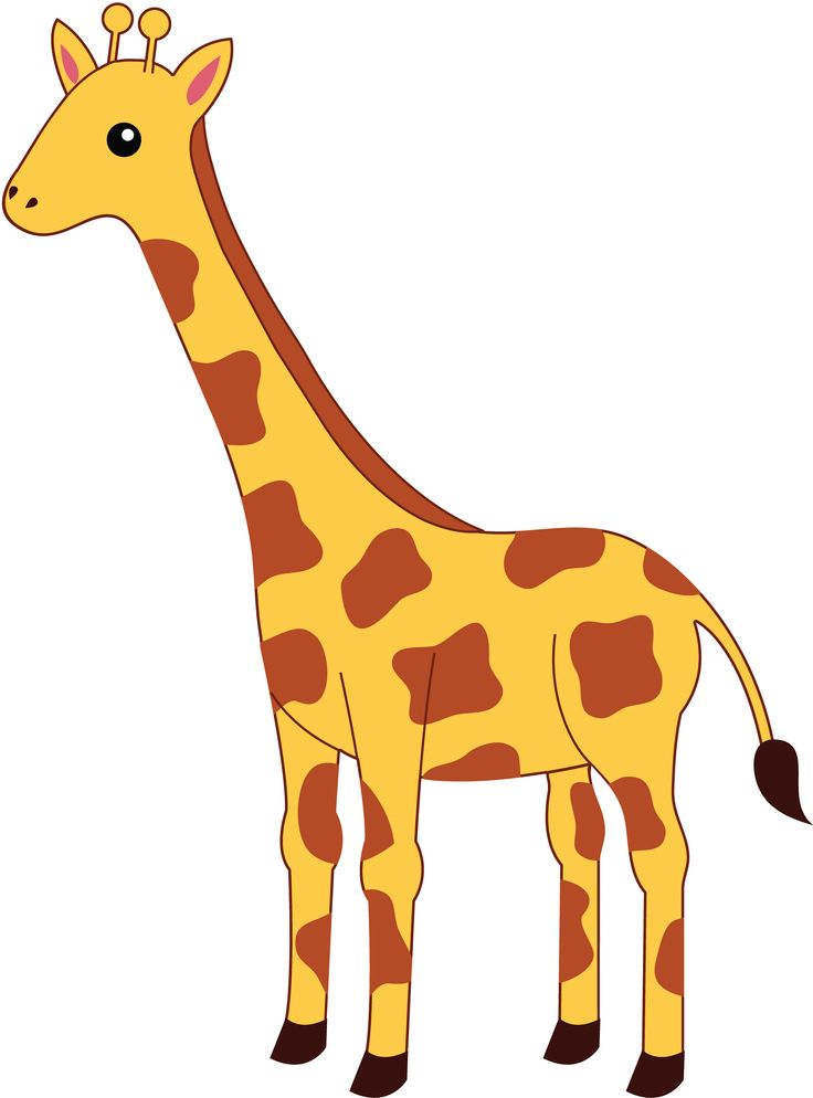 Simple giraffe outline cute giraffe clipart applique.