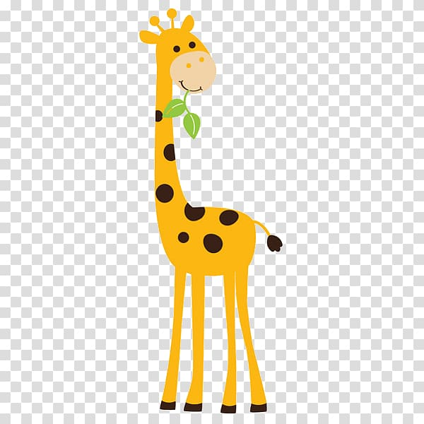 Giraffe Wall decal Sticker, Animated Giraffe transparent.