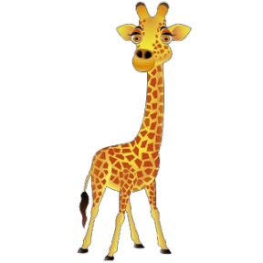 Giraffe Free Clipart Transparent Background.