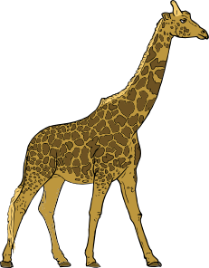 Giraffe clip art Free Vector / 4Vector.