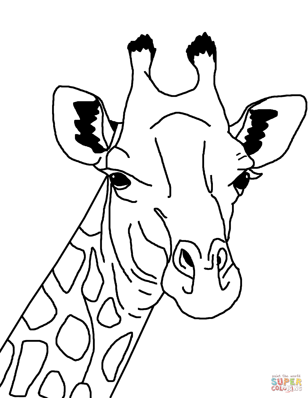 Giraffe Face Clipart Black And White.