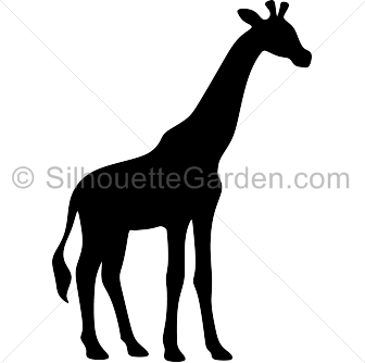 Giraffe silhouette clip art. Download free versions of the image.