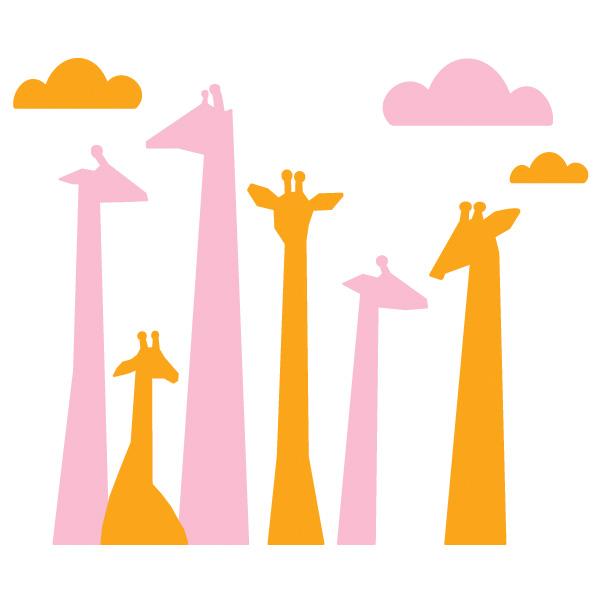 Giraffe Head Silhouette Clip Art.