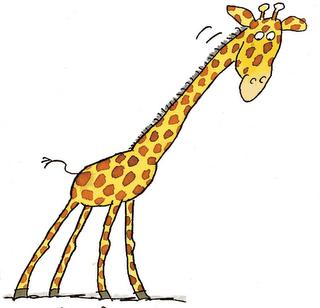 Giraffe neck clipart.