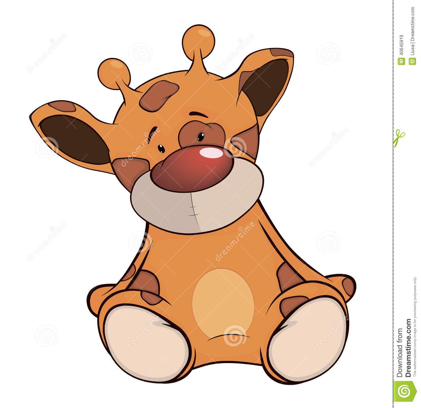 The Stuffed Toy Giraffe Cartoon Stock Vector.