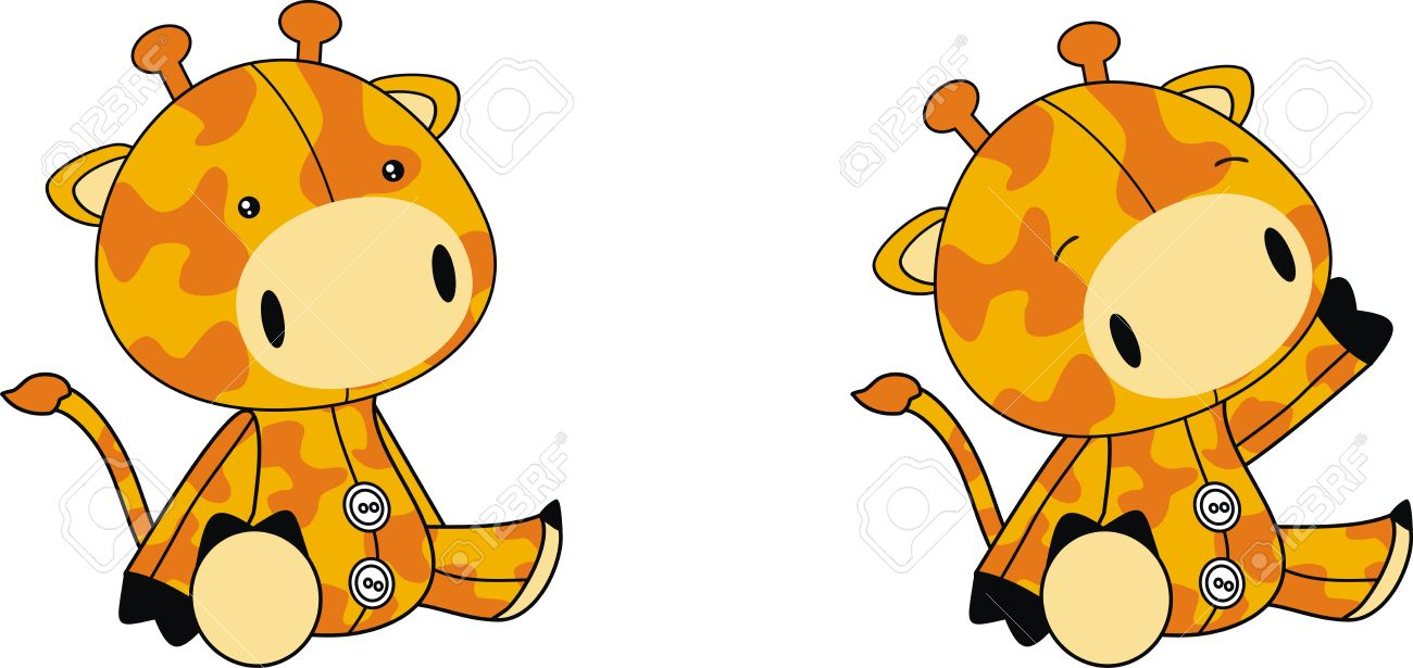 Giraffe Plush Cartoon Royalty Free Cliparts, Vectors, And Stock.