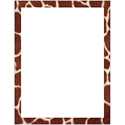 Amazon.com : Giraffe Print Border Stationery Letter Paper.