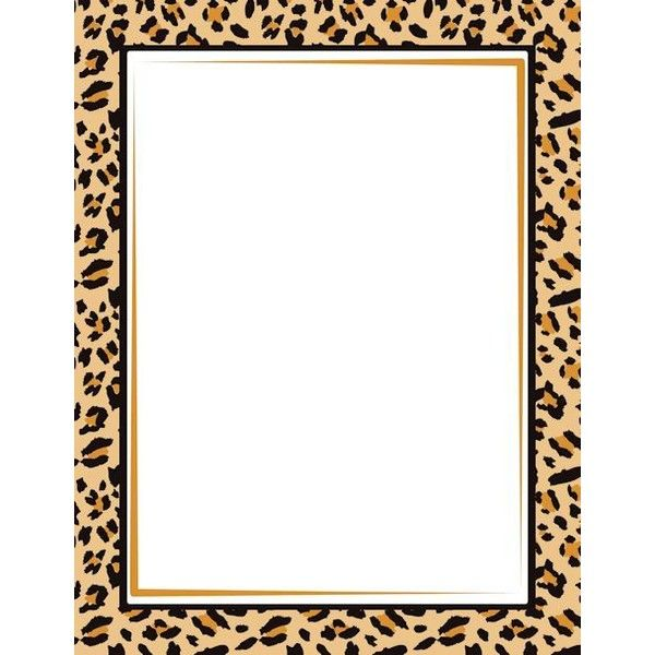 Leopard Print Border: Clip Art, Page Border, and Vector.