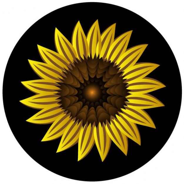 Girasol clip art amarilla.
