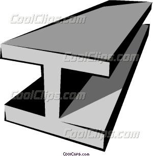 Girder Vector Clip art.