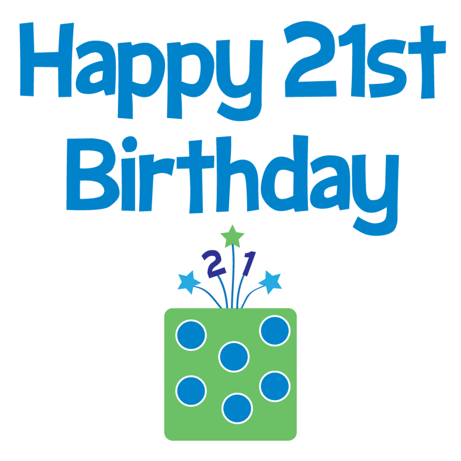 Happy 21st Birthday Clipart.