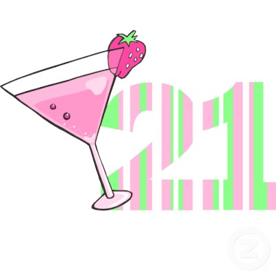 Girl 21st Birthday Clipart.
