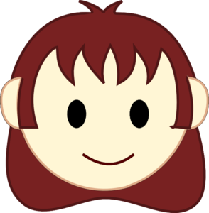 Small Girl Face Clipart.